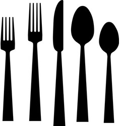 fork knife spoons vector image
