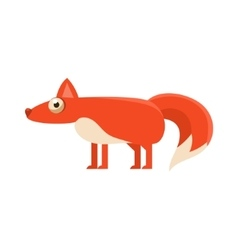 Fox simplified cute vector