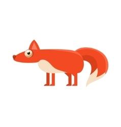 Fox Simplified Cute vector image