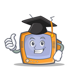 Graduation tv character cartoon object vector