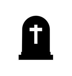 halloween grave icon gravestone vector image