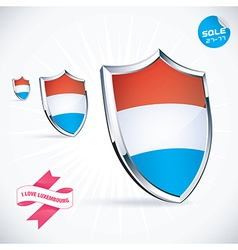 I love luxembourg flag vector