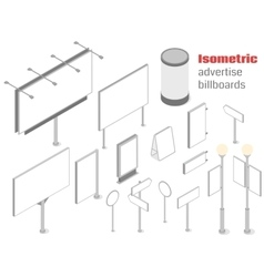 Isometric advertise billboards vector image