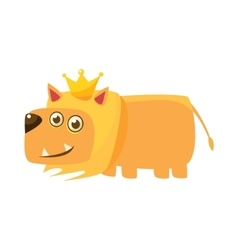 Lion wearing the crown vector