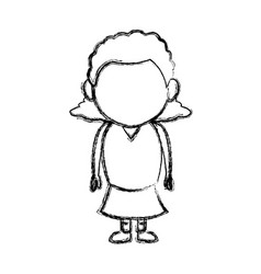 Little girl child standing person character vector