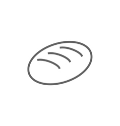 Loaf line icon vector