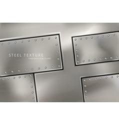 Riveted steel rivets and screws metal vector