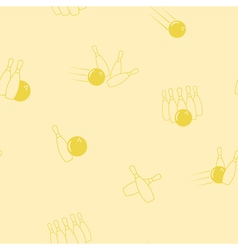 Seamless pattern with bowling icons vector image
