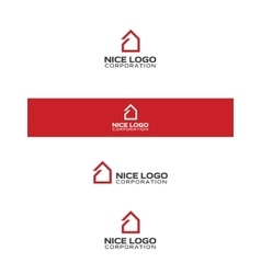 simple house logo vector image
