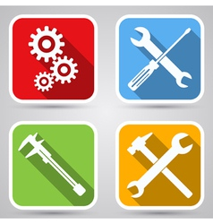 Tools icon collection vector