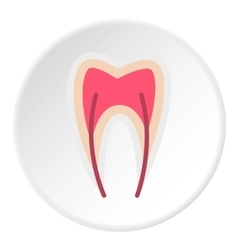 Tooth nerve icon flat style vector image vector image