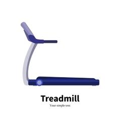 training apparatus treadmill vector image vector image