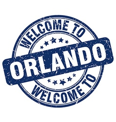 welcome to Orlando vector image vector image