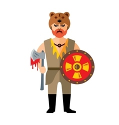 Viking flat style colorful cartoon vector