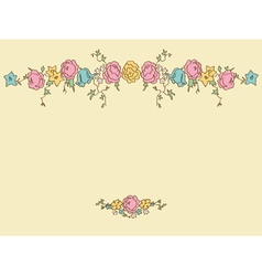 Card with drawing flowers vector