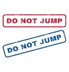 Do not jump rubber stamps vector