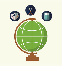 globe geography tool icon vector image
