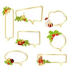 bubble speech christmas vector image