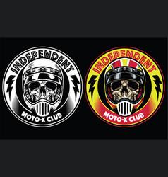 motorcycle club badge vector image