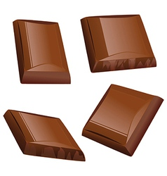 Chocolate piece vector