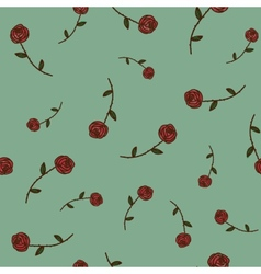 Roses seamless pattern Sketch design elements vector image