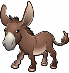 Cute donkey vector