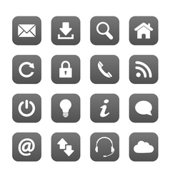 Grey web buttons vector image