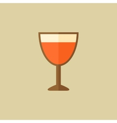 Wine food flat icon vector