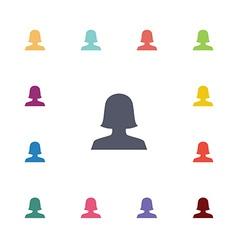 female flat icons set vector image