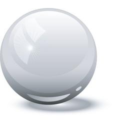 white glass ball vector image