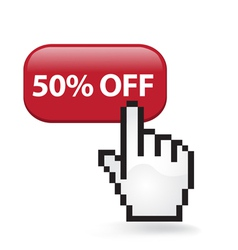 50 off button vector