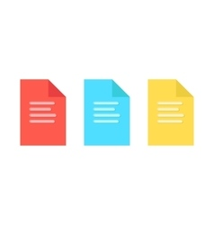 colored sheets of paper with embossed lines vector image