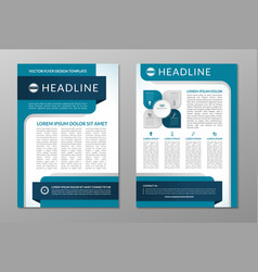 Business brochure flyer layout template a4 size vector