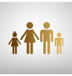 Family sign flat style icon vector