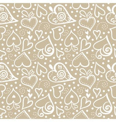 Seamless pattern with abstract hearts vector