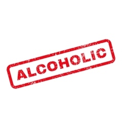 Alcoholic text rubber stamp vector