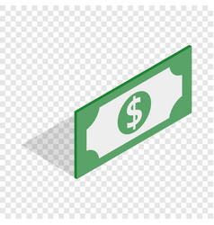 bill dollar isometric icon vector image vector image