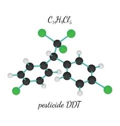 C14h9cl5 pesticide ddt molecule vector