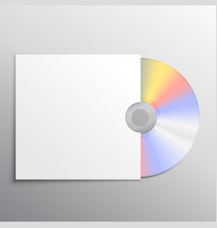 cd and cover black mockup template design vector image