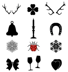 Christmas icons2 vector image vector image