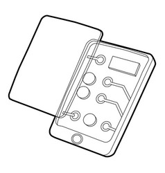 gadget disassembled icon outline style vector image