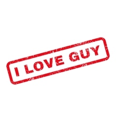 I love guy text rubber stamp vector