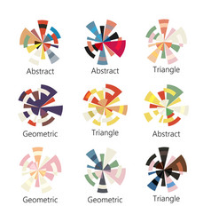 Isolated abstract colorful round shape logo of vector