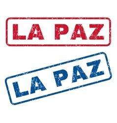 La Paz Rubber Stamps vector image