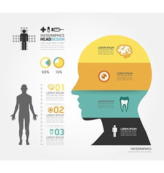 Medical Infographic Design template vector image