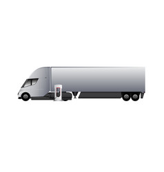 modern electric truck vector image vector image