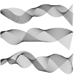 multiple waves abstract wavy stripes vector image vector image