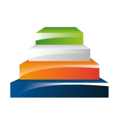 piramid infographic presentation icon vector image