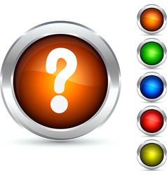 Question button vector image vector image