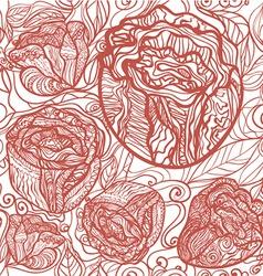 redflowerpattern vector image